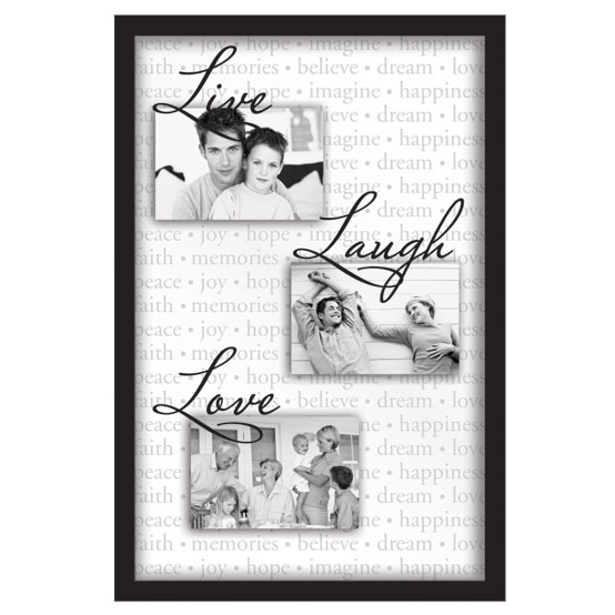 "13x20"" Float Collage<br />Live Laugh Love"