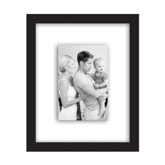 "8x10"" Float Frame<br />Black Gallery"