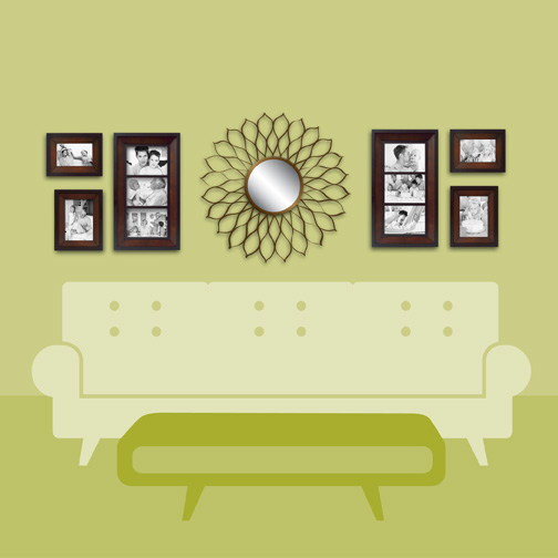 Wall Sconces Over Couch : Wall Solutions Decorating Tips & Tricks